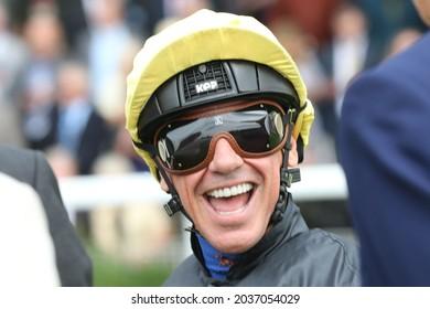 YORK RACECOURSE, YORK, UK : 20 August 2021 : Top jockey Frankie Dettori prior to riding Stradivarius to victory at York Races