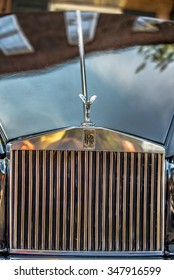 YORK SC - Sept 2015: The emblem of Rolls-Royce at Summerfest 2015 classic car show  in York City South Carolina