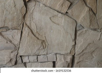 York stone wall in natural tones