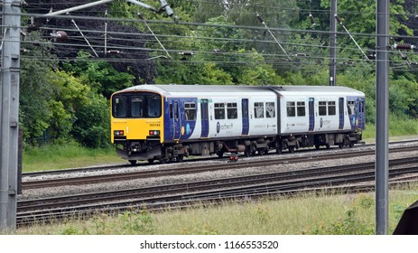 York Uk 06 16 2018 Northern Rail Class 150 sprinter passing Holgate Junction shortly after leaving York station