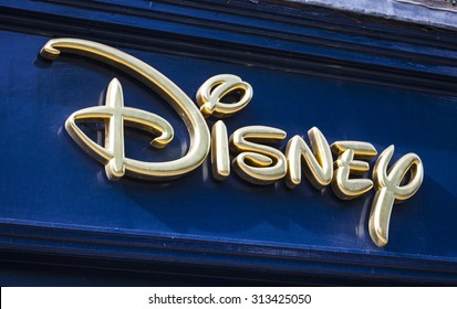 YORK, UK - AUGUST 26TH 2015: The sign for a Disney retail store in York, on 26th August 2015.