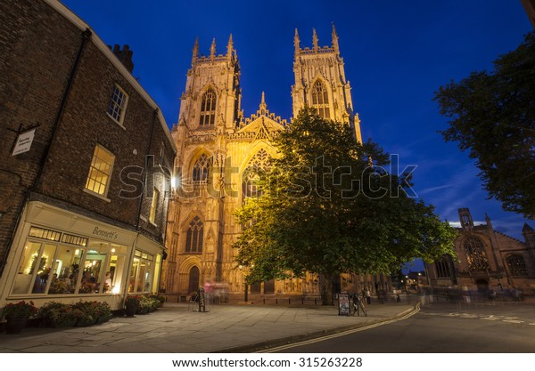 YORK, UK - AUGUST 29TH 2015: A view of the historic York Minster in York, on 29th August 2015.