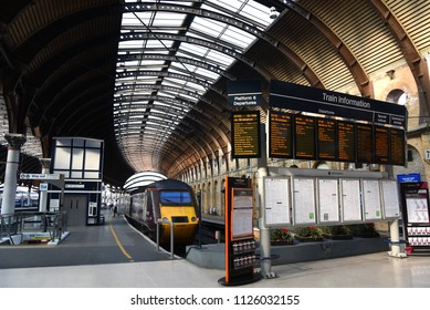 York UK - July 23,2016 : York Railway station, York's station is a key junction approximately halfway between London and Edinburgh. The present station opened on 25 June 1877.
