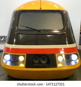 York / UK - July 28 2019: High Speed Train cabs