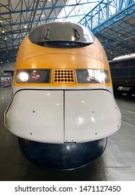 York / UK - July 28 2019: Eurostar in National Railway Museum