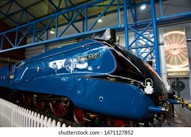 York / UK - July 28 2019: Mallard Train in National Railway Museum