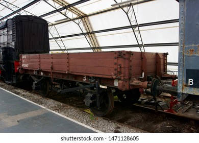 York / UK - July 28 2019: Trains on display in the National Railway Museum
