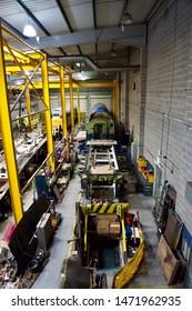 York / UK - July 28 2019: Engineering works in National Railway Museum, York, UK