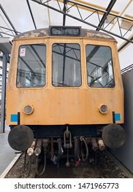 York / UK - July 28 2019: Old diesel commuter train in National Railway Museum, York, UK