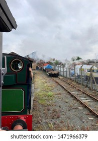 York / UK - July 28 2019: Steam engine ride in National Railway Museum, York, UK