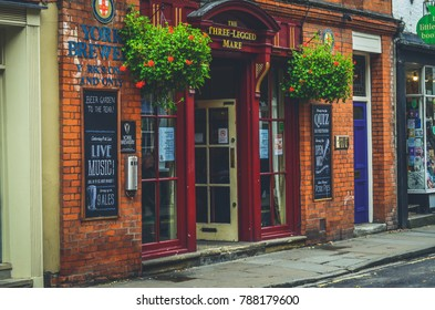 York, The United Kingdom. 23-09-2017: A Three Legged Mare pub in York