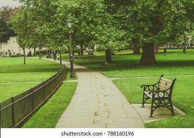 York, The United Kingdom. Dean's Park behind York Minster