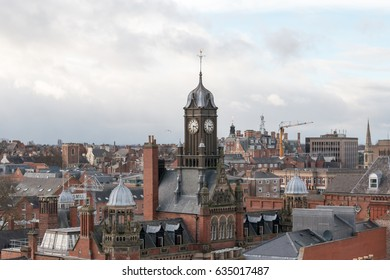 York, United Kingdom - February 20, 2017: View over York, famous medieval walled city in North Yorkshire, England.