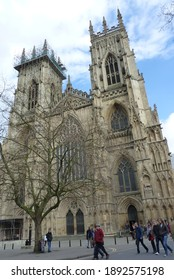 York, United Kingdom of Great Britain and Northern Ireland, March 01, 2014: The Cathedral and Metropolitical Church of Saint Peter, commonly known as York Minster,  York, England