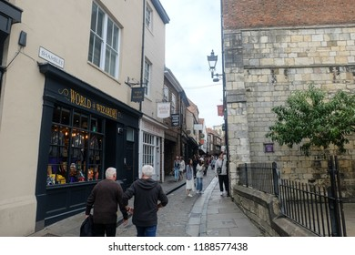 """York, United Kingdom- September 6,2018: York is one of the destination for Harry Porter fans every year."""