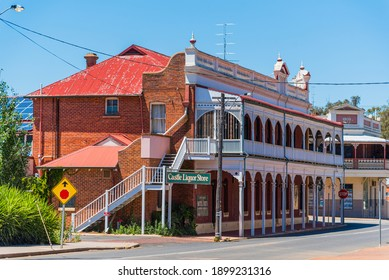 York, WA - Australia 11-15-2020 The Castle Hotel in York is reputedly the oldest inland hotel in Western Australia.