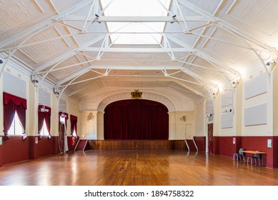 York, WA - Australia 11-15-2020. York's historic Town Hall was built in 1911. It's worth a visit to view its jarrah floors, balustrading and pressed tin ceilings.