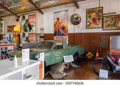 York, WA - Australia 11-16-2020. The original Chrysler Valiant from the movie Crocodile Dundee on display at the York Motor Museum.