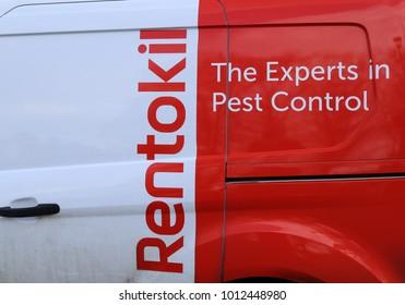 York, Yorkshire, England, UK.   17 January 2018. Rentokil company sign on  a van.