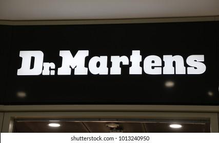 York, Yorkshire, England, UK. 17 January 2018. Dr. Martens store sign.