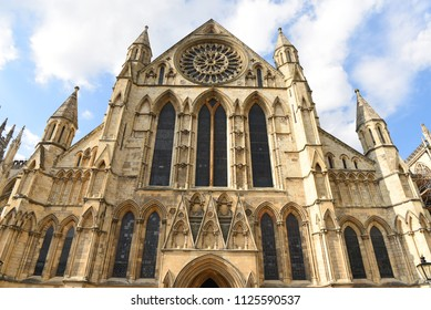 York, Yorkshire, England, UK - July 7, 2016:  The Cathedral and Metropolitical Church of Saint Peter in York, commonly known as York Minster.