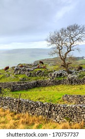 Yorkshire Dales after a heavy hail storm