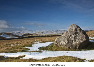 Yorkshire Dales Moorland In Winter