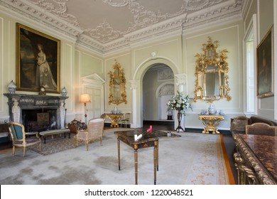Yorkshire. England. 05. 07.13. Interior of a large country manor house or stately home in Yorkshire, northeast England.
