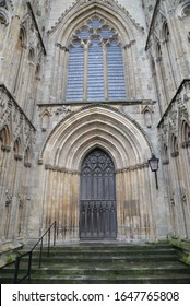 Yorkshire, England – February 20, 2020: York Minster (The Cathedral and Metropolitical Church of Saint Peter in York), the cathedral of York in Yorkshire, Northeast England, United Kingdom, Europe