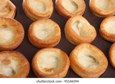 Yorkshire puddings on baking tray