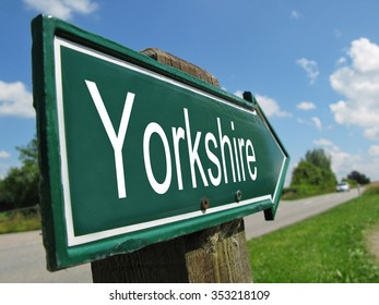 Yorkshire signpost along a rural road