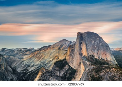 Yosemite Half Dome at Sunset, Glasier Point - California, USA