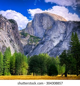 Yosemite National Park, California.  Half Dome Peak.