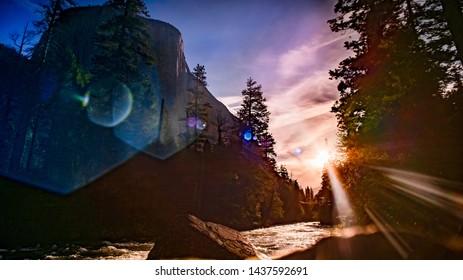 Yosemite National Park, El Capitan, Sunrise, Sunset