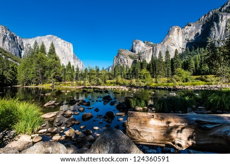 Yosemite National Park, Mountains and Valley view