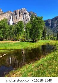 Yosemite National Park Waterfall.