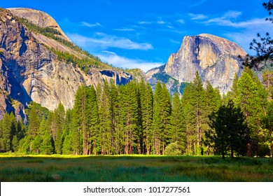 Yosemite Valley, with Half Dome.