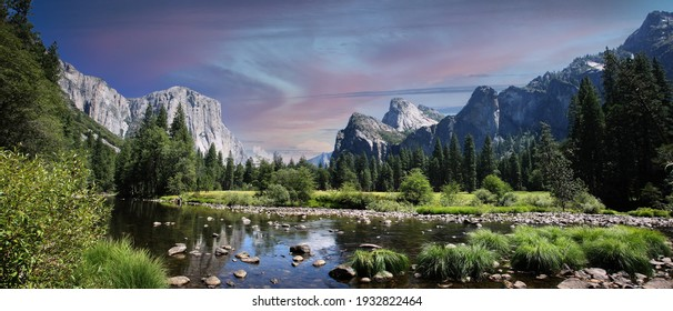 Yosemite Valley in the Yosemite National Park in California - USA