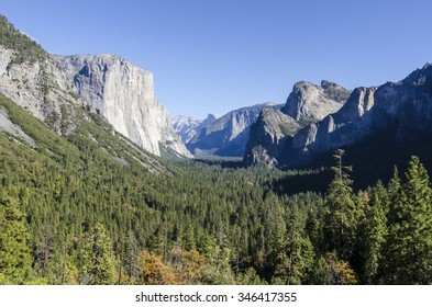 Yosemite Valley from Tunnel View. California. USA.