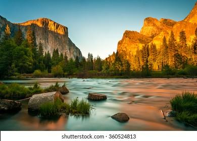 Yosemite Valley View Sunset