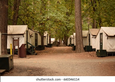 Yosemite,CA. September 2016 - View of the tents at Half Dome Village in Yosemite National Park