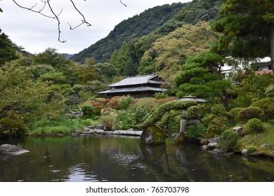 Yoshiike Ryokan Garden Hakone Japan October 2017