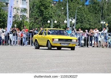 YOSHKAR-OLA, RUSSIA, JUNE 17, 2018: Auto and Motorcycle Exhibition - Festival - YO SUMMIT 2018 - Ford