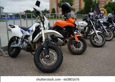 YOSHKAR-OLA, RUSSIA, JUNE 18, 2017: Auto and Motorcycle Exhibition - Festival - YO SUMMIT 2017