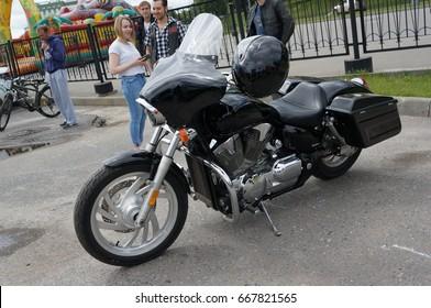 YOSHKAR-OLA, RUSSIA, JUNE 18, 2017: Auto & Motorcycle Exhibition - Festival - YO SUMMIT 2017 - Motorcycles
