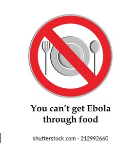 You can not get Ebola through food, Part of a series.