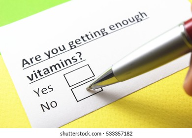 Are you getting enough vitamins? No