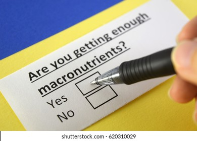 Are you getting enough macronutrients? Yes
