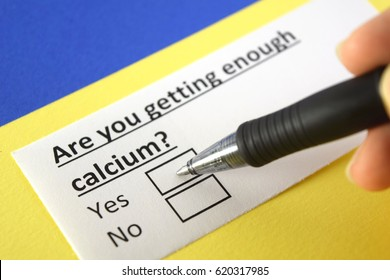 Are you getting enough calcium? Yes or no