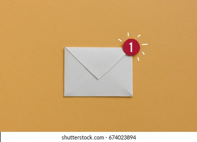 You have one new e-mail - notification concept, useful image for newsletter and email marketing topics